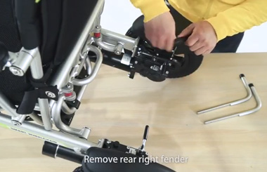 How to install the kickstand of the intelligent electric wheelchair Airwheel H3s